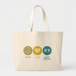 Peace Love Gandy Dancing Canvas Bag