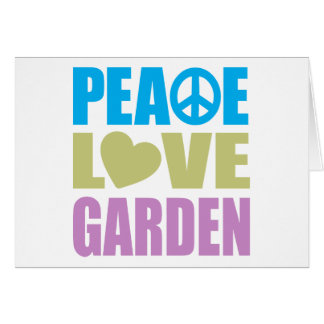 Peace Love Garden Stationery Note Card