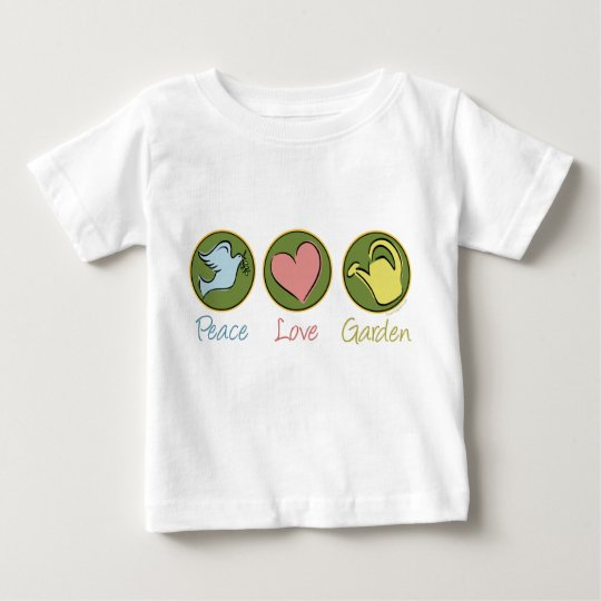 Peace, Love, Gardening Baby T-Shirt