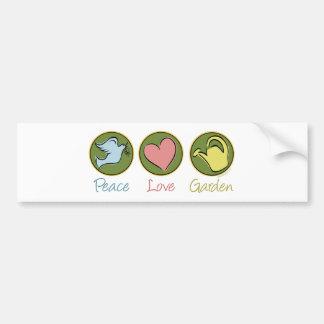 Peace Love Gardening Bumper Sticker