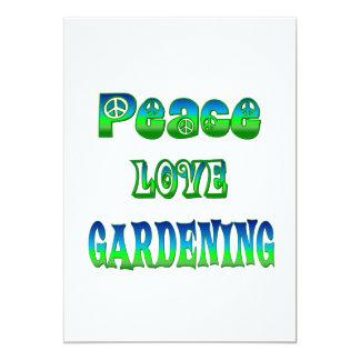 Peace Love Gardening Card