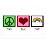 Peace Love Gay Pride Postcard
