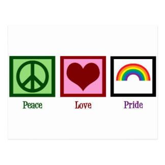 Peace Love Gay Pride Postcard