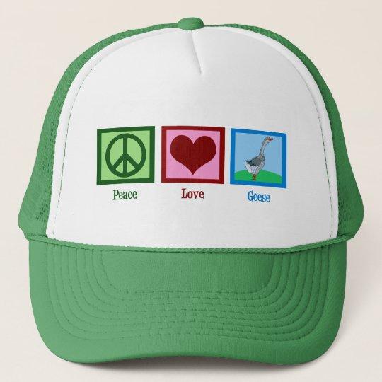 Peace Love Geese Trucker Hat