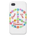 Peace Love Gemini iPhone 4/4S Cases
