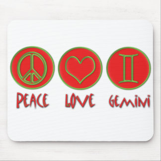 Peace Love Gemini Mouse Pad