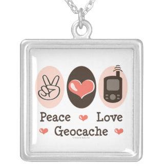 Peace Love Geocache Necklace