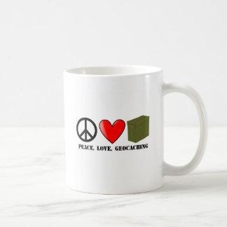 Peace, Love, Geocaching Coffee Mug