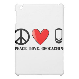 Peace, Love Geocaching iPad Mini Covers