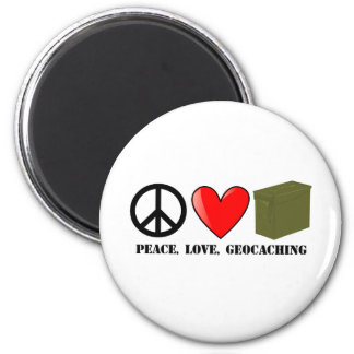 Peace, Love, Geocaching Magnet