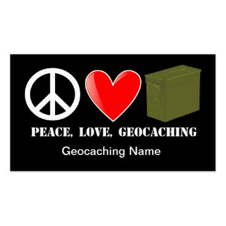 Peace, Love, Geocaching Stash Card Business Card