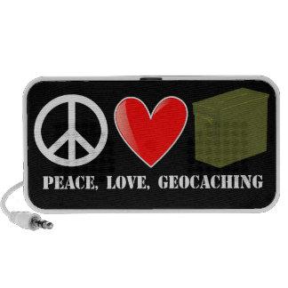 Peace, Love, Geocaching Travelling Speaker