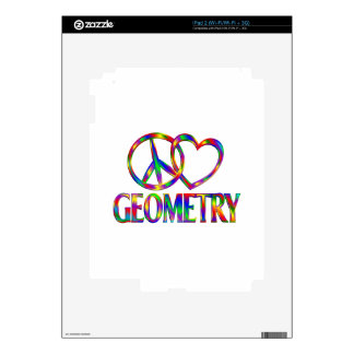 Peace Love Geometry Decal For The iPad 2