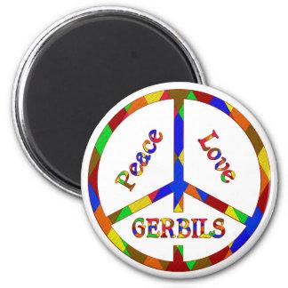 Peace Love Gerbils 2 Inch Round Magnet