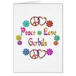 PEACE LOVE GERBILS GREETING CARD