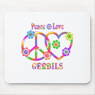 Peace Love Gerbils Mouse Pad