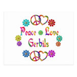 PEACE LOVE GERBILS POST CARDS