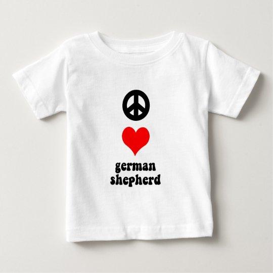 Peace love German Shepherd Baby T-Shirt
