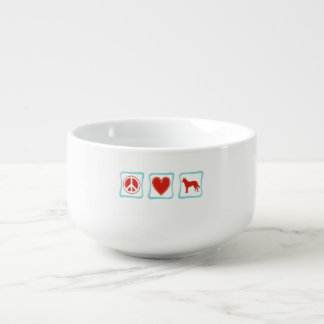 Peace Love German Shepherd Squares Soup Mug