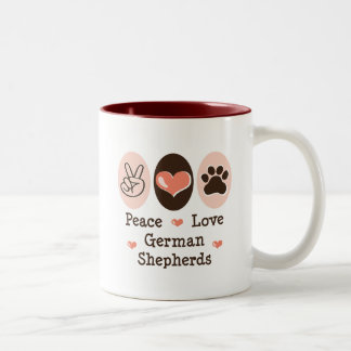 Peace Love German Shepherds Mug