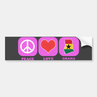 Peace Love Ghana Bumper Sticker
