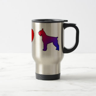 Peace Love Giant Schnauzers 15 Oz Stainless Steel Travel Mug