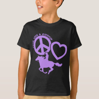 PEACE-LOVE-GIDDYUP T-Shirt