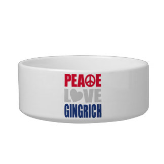 Peace Love Gingrich Bowl