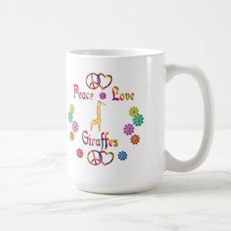 PEACE LOVE GIRAFFES COFFEE MUG