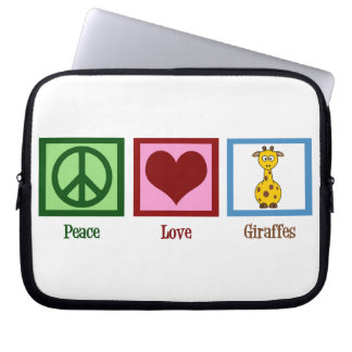 Peace Love Giraffes Computer Sleeve