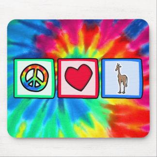 Peace, Love, Giraffes Mouse Pad