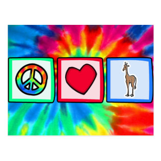 Peace, Love, Giraffes Postcard