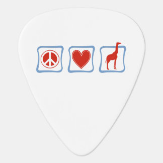 Peace Love Giraffes squares Guitar Pick