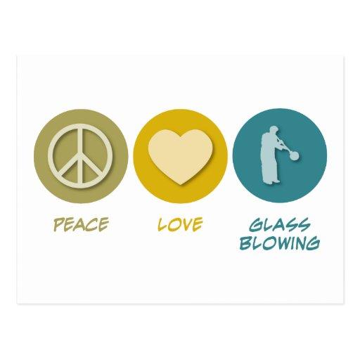 Peace Love Glass Blowing Postcard