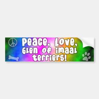 Peace Love Glen of Imaal Terrier Bumper Sticker