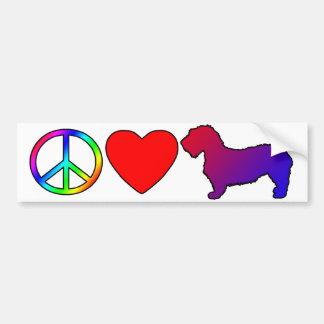 Peace Love Glen of Imaal Terriers Bumper Sticker