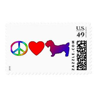 Peace Love Glen of Imaal Terriers Postage