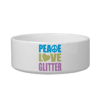 Peace Love Glitter Bowl
