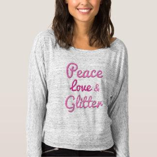 Peace Love Glitter T-shirt