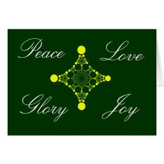 Peace Love Glory Joy Notecard