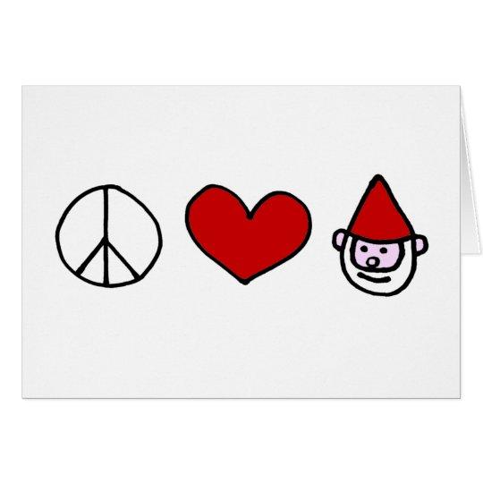 Peace Love Gnome Card