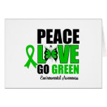 Peace Love Go Green Environment Butterfly Greeting Cards