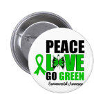 Peace Love Go Green Environment Butterfly Pin