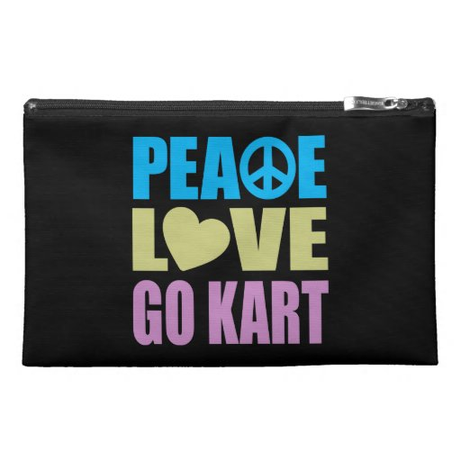 Peace Love Go Kart Travel Accessories Bags
