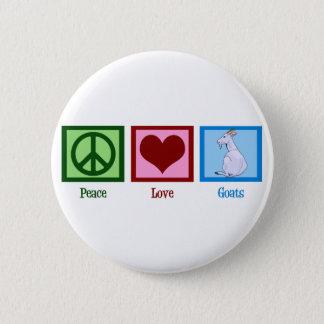 Peace Love Goats Button