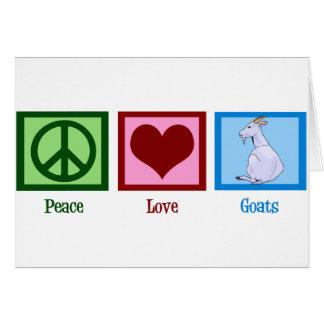 Peace Love Goats Card