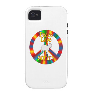 Peace Love Goats Vibe iPhone 4 Cases