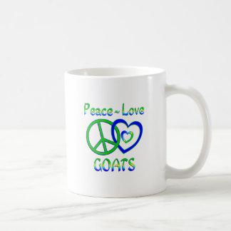 Peace Love Goats Coffee Mug