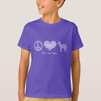 Peace - Love - Goats Kids' T-Shirt
