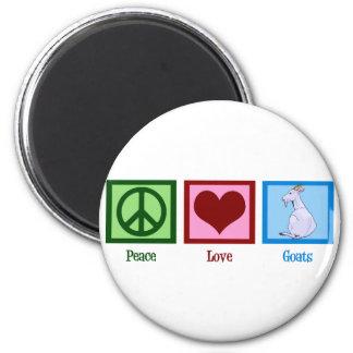 Peace Love Goats Magnet